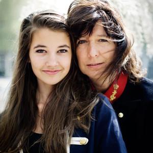 Maartje Nevejan en dochter Noa